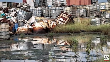 Oil waste in South Sudan