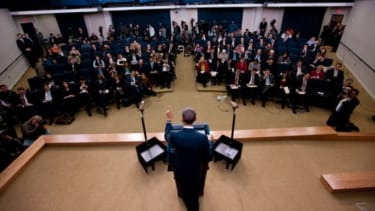 President Obama meets the press.
