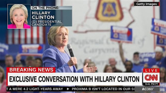 Hillary Clinton discusses emails, Trump, with CNN host Anderson Cooper