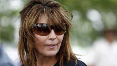 Sarah Palin at the D.C. motorcycle tour in May 2011