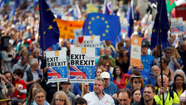 Anti-Brexit demonstrators.