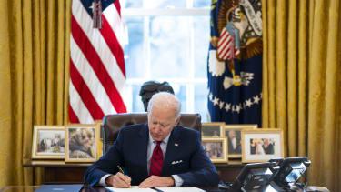 Biden in the Oval Office