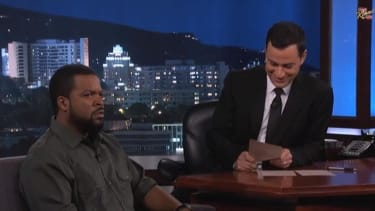 Ice Cube angrily says nice things on Jimmy Kimmel Live