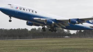 A United Airlines flight in Washington