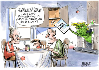 Political Cartoon U.S. The Trump Who Stole Food Stamps