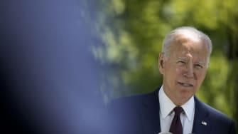 Biden speaks to reporters