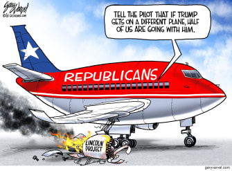 Political Cartoon U.S. lincoln project gop