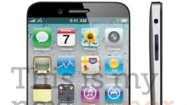 This mockup of the forthcoming iPhone 5 imagines a larger screen, and a device that would be even thinner than its predecessors.