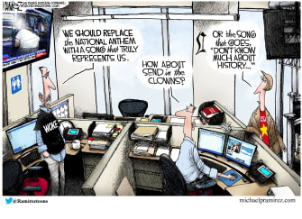 Political Cartoon U.S. woke Democrats