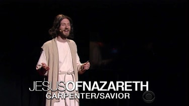 Jesus gives a TED Talk on The Late Show