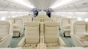 Nice seats on an airplane.