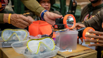 Supplies to help children stuck in a flooded cave in Thailand.