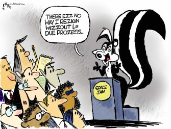 Editorial Cartoon U.S. pepe le pew space jam cuomo