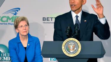 Elizabeth Warren and Barack Obama