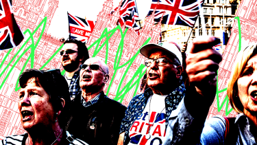 Brexit demonstrators.