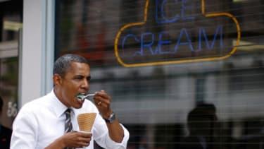 Obama screams for ice cream