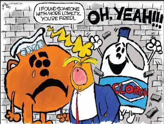 Political Cartoon U.S. Trump coronavirus briefing warning toxic harmful to the public