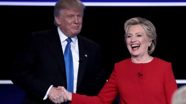 President Trump and Hillary Clinton.
