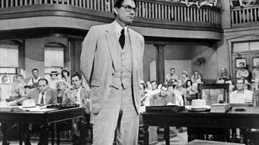 """Gregory Peck as Atticus Finch in the film version of """"To Kill a Mockingbird"""""""