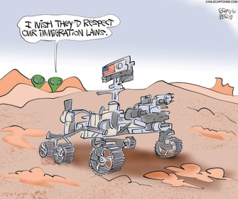 PoliticalCartoon U.S. mars rover immigration laws