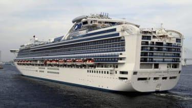 The Sapphire Princess ship.