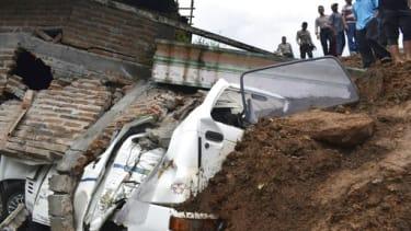 Landslide in Indonesia