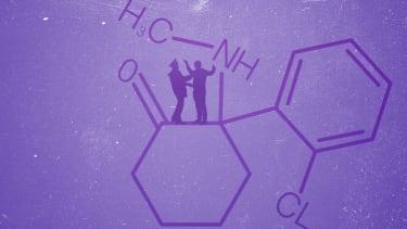 A ketamine molecule.