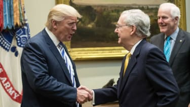 President Trump and Mitch McConnell