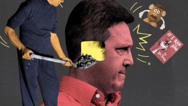Shoveling coal into a head.