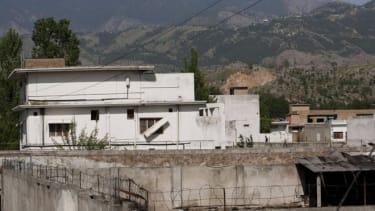 Osama bin Laden's compound in Abbottabad, Pakistan before it was torn down.