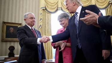 President Trump and Jess Sessions.