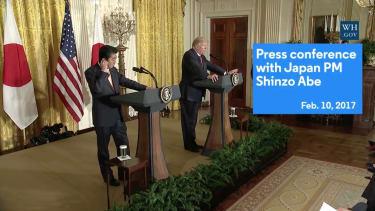 Donald Trump boasting about his electoral win