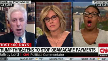Jeffrey Lord literally said Donald Trump is the MLK of health care.
