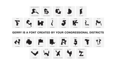 A font made out of Gerrymandered districts.