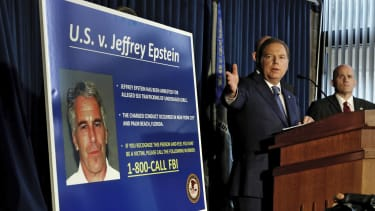 A news conference about Epstein