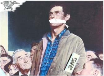Editorial Cartoon U.S. cancel culture norman rockwell