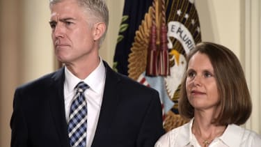 Judge Neil Gorsuch and his wife, Marie Louise.
