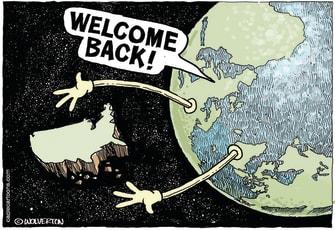 Political Cartoon U.S. Welcome United States Back to World Biden Election