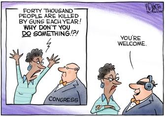 Political Cartoon U.S. congress gun control