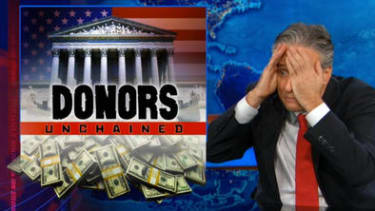 Watch The Daily Show rip apart the Supreme Court's money-equals-speech logic