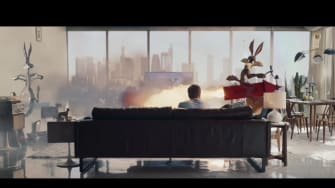 A still from the Mercedes Benz commercial.