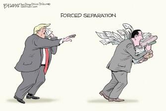 Political Cartoon U.S. trump tax returns