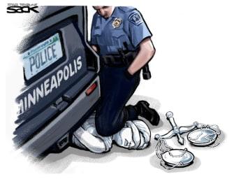 Editorial Cartoon U.S. Minneapolis police George Floyd