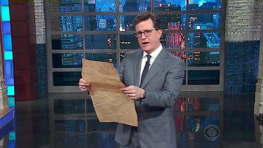 Stephen Colbert previews Trump constitutional amdendments