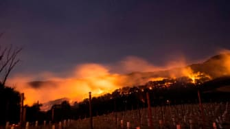 A fire in Napa.