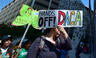 A rally in support of DACA