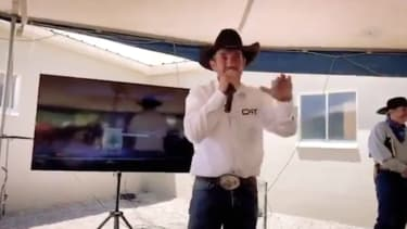 Cowboys for Trump leader Cuoy Griffin.
