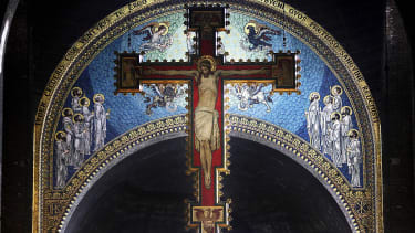 A cross at Westminster Cathedral.