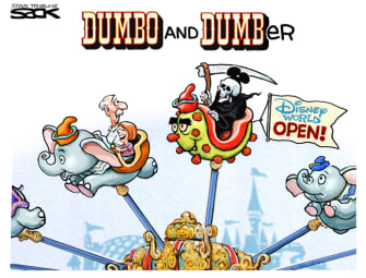 Editorial Cartoon U.S. Disney World coronavirus reopening