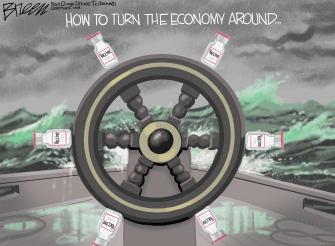Editorial Cartoon U.S. covid vaccine economy